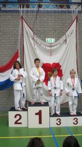 Niels op het podium